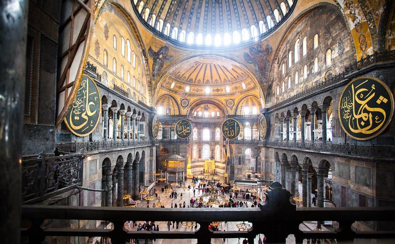 second floor view of Hagia Sophia