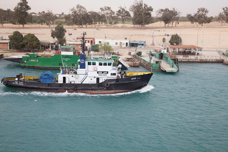 Ferry across the Suez Canal