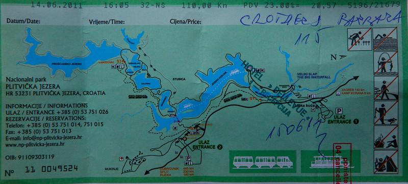 Map of Plitvice/ Plitvicka