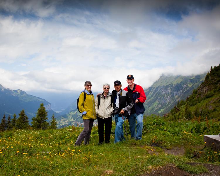 The usual suspects hiking from Kleine Scheidegg to Wengen