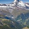 Matterhorn with hang glider