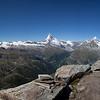 panorama of mountains near Matterhorn from Rothorn