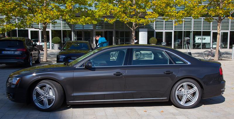 Audi A8L on pickup day