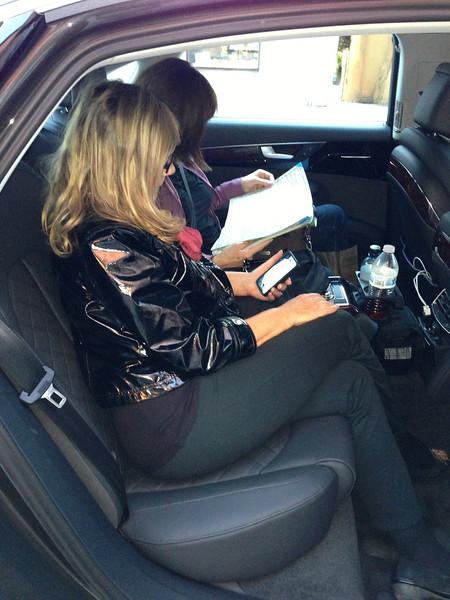 Passengers expressing intense interest in new Audi.....