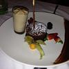 Molten chocolate cake with hazelnut mousse