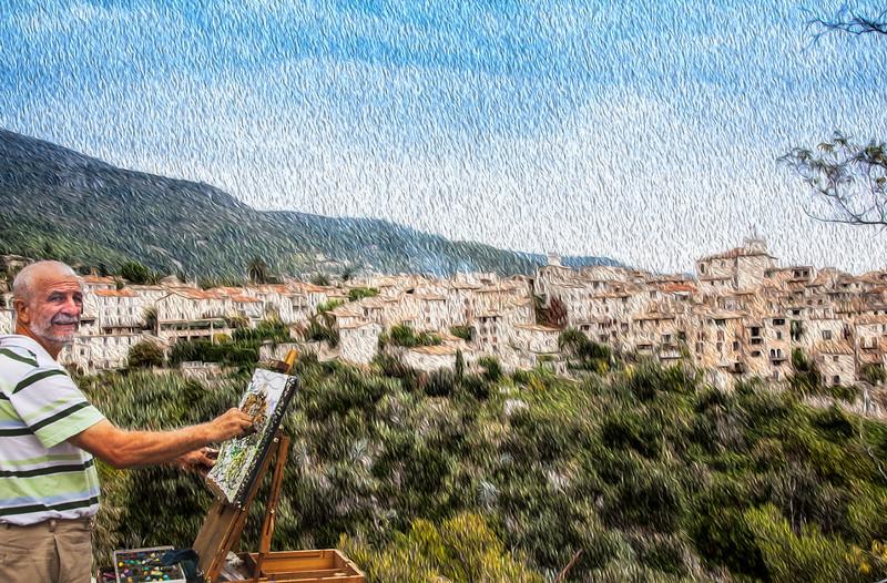 Artist paints entire city in Oil. (St Paul de Vence).