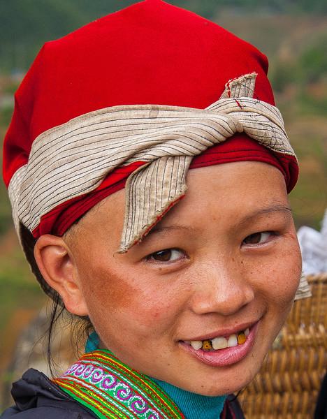 Red Dao girl, Sapa, Vietnam