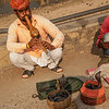 traditional snake charmer attracks photographers.