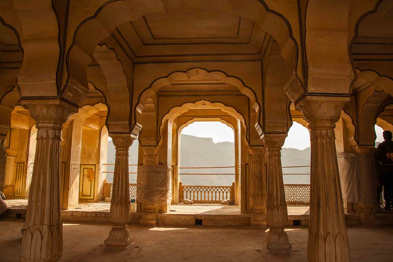 inside the Amber Fort