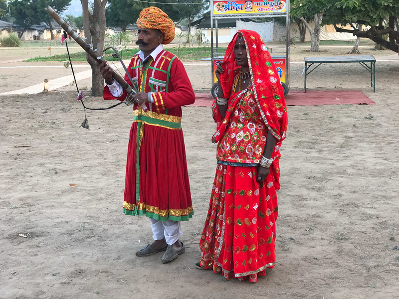entertainment at Pushkar tent camp.