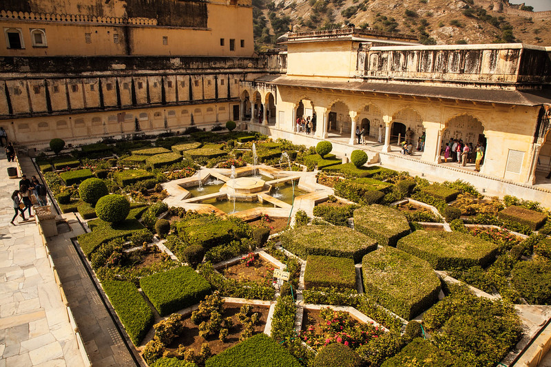 gardens in the Amber Fort