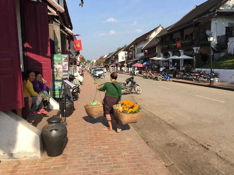 Main street in Lujang Prabang