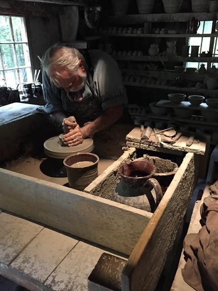 Old Sturbridge pottery making