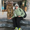 Barb with smaller troll at NordKapp