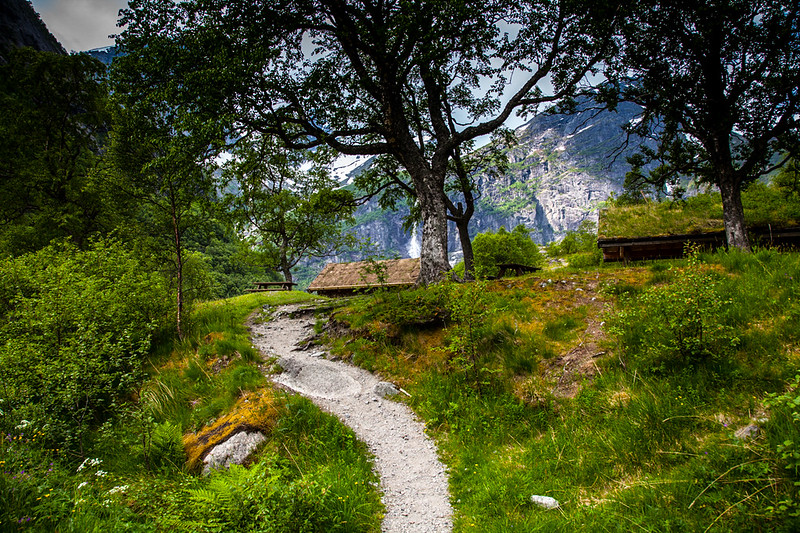 trail to Briksdal Glacier from Olden, Norway