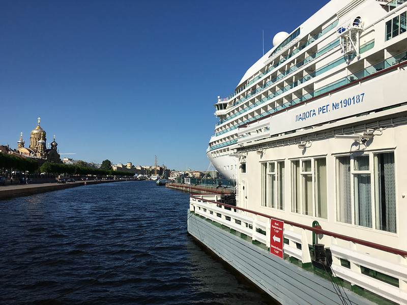 Quest at the quay in St. Petersburg.