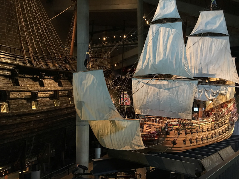 Vasa Museem. Recovered ship from 17th Century (model in foreground)