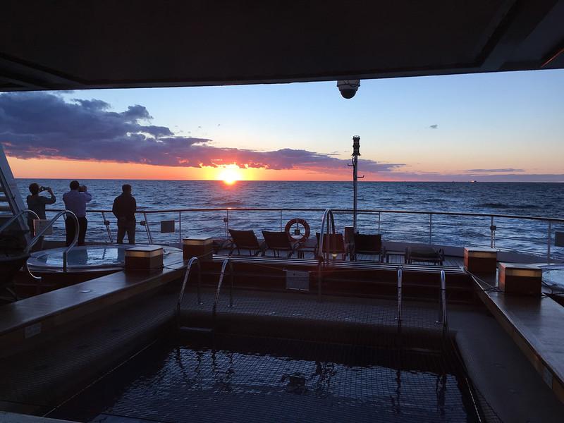 Sunset  near Stavanger at 10:04 pm.