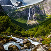 view from trail to Briksdal Glacier, Norway
