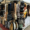 Helsinki furs for sale with street vendor