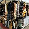 Helsinki furs for sale with street vendor
