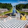 Peterhof grounds looking out to the Baltic