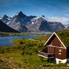 Lofoten Islands. Houses have renewable roofs.