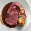 perfectly cooked prime rib. by Seabourn