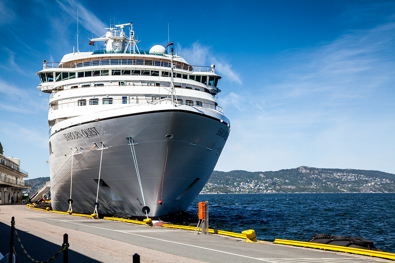 Quest docked at Bergen