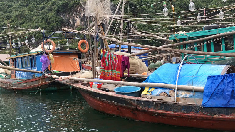 fishing village at Halong Bay