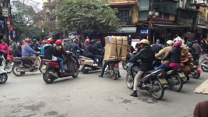 typical intersection in Hanoi