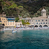 San Fruttuoso abbey accessible only by boat.