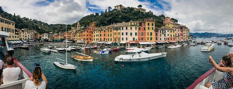 Pano of Portofino from the ferry.