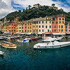 Pano of Portofino from the ferry.