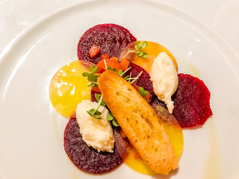 Beet and Barrata  appetizer