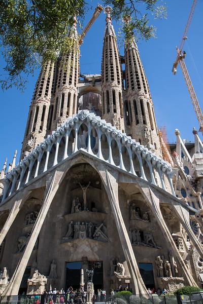 La Sagrada Familia designed by Antoni Gaudi in Barcelona