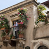 Taormina balcony on shoppping street