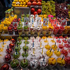 fruit vendor in La Boqueria