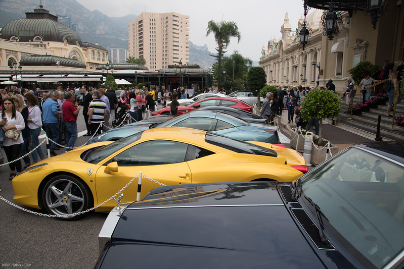 Cars at the Casino with Cafe de Paris on the left