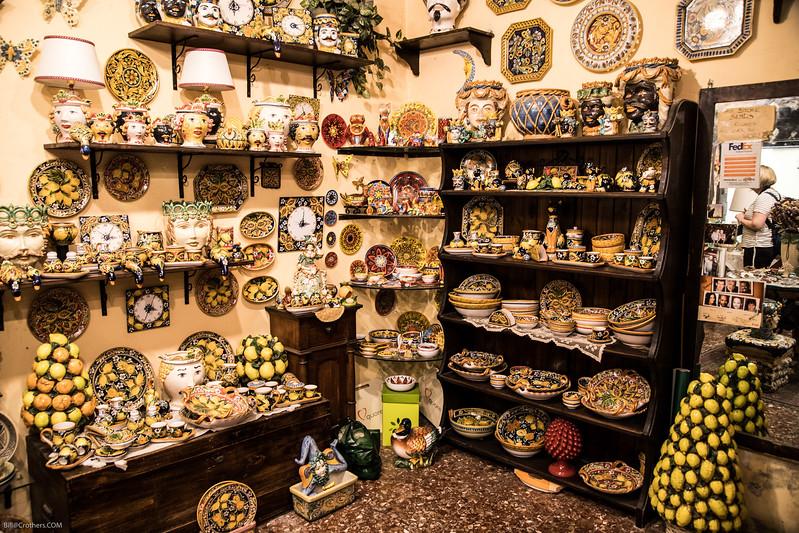 Castelmola ceramics shop