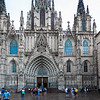 Catedral De Barcelona on a misty day