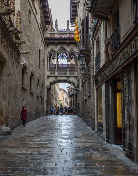 Pont del Bisbe in Barcelona (copy of Bridfge of Sighs)