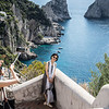 tourists abound in Capri