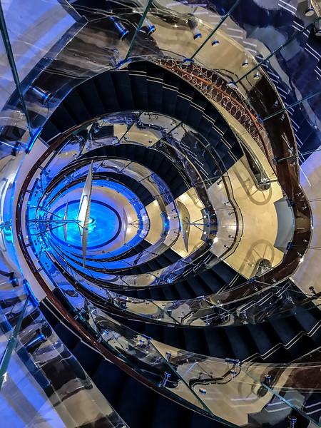 Seabourn Encore main stairway