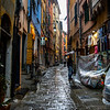 Portovenere shopping street -rain or shine