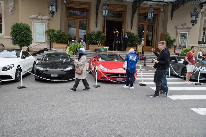 Casino de Monaco. Parking not for rental cars...