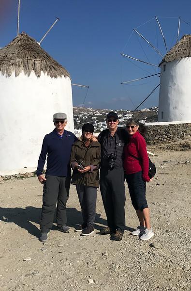Jim, Joyce, Bill, Barb in Mykonos