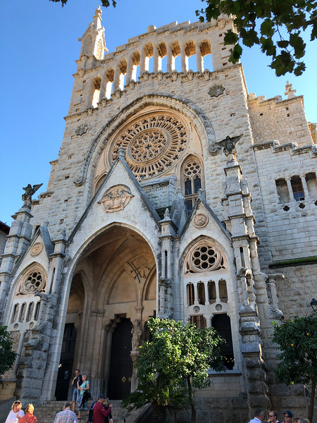 Cathedral in Soller, Mallorca