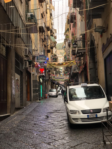 Naples side street in the center