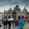 Venice in the rain (note the boots to cope with the flooding)